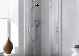Liga: innovative Pendel-Falt-Ausführung für raumsparenden, pflegeleichten Pendelkomfort.